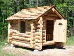 Cedar log sauna
