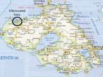 Location of Villa on Lesbos