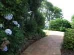 Private path up to main house