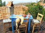 Relax or entertain on rooftop terrace, and enjoy breathtaking views of Aegean Sea and near mountains