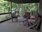 Lower porch — a great place for a lazy afternoon nap