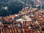 Brasov old center - view from Tampa Hill