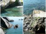 The blue sea in Villa Fosca