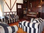 Old fashioned player piano in Living room