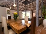 Dining Area With Beautiful Suar Wood Table