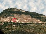 Cortona where we are