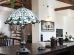 Working corner (Downstairs) - Attic Hastalska - Luxury Three Bedroom & Two Bathroom Apartment
