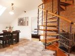 Dinning area (Downstairs) - Attic Hastalska - Luxury Three Bedroom & Two Bathroom Apartment
