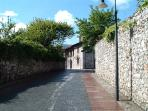 Cobbled streets in Llanes