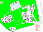 general plan and lay out lodgings posada House Hotel Populi,