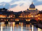 S. Peter's and Tiber