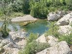 Swimming river in Bize Minervois