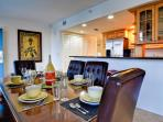 Seating for six at the dining table