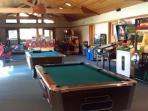Recreation Center: Games room, separate TV room, vending machines.