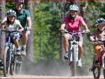 Bike riding in the forest and countryside, lots of trails to choose from.