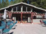 Recreation Center Main Gym- top equipment, saunas, showers; overlooks adult lap pool, & woods