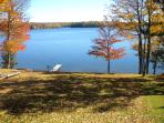 View of lake from the cottage deck