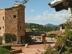 Main square of Punta Volpe village