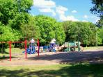 play ground for the kids.close to the house