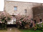 the external facade to the garden