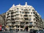 La Pedrera, in Passeig de Gracia, walking distance from the apartment