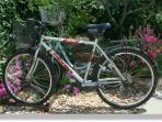 free bicycles for exploring the island (incl. map of hiking and biking trails)