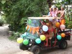 Festive July 4th Golf Cart parade - A Little Gasparilla tradition!