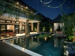 Romantic Private Pool Villa By Night