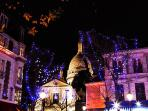 Montmartre Christmas time. Place du Tertre .5 minutes from home