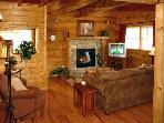 Hidden Romance #1404- Living Room with Fireplace & TV
