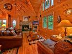 Tonto's Tee Pee #123- Living Room with Fireplace & Flat Screen T