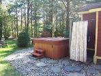 HOT TUB AND HOT OUTDOOR SHOWER