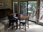 Dining room with view to balcony
