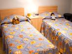 kids bedroom ideal for families. We also provide a cot if needed