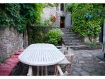 Third Terrace with big table and chairs for siestas