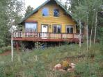 Front of home and deck