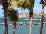 View of El Morro from Isla de Cabras