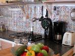 The Prinsenboat kitchen