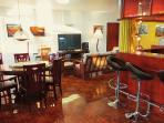The guest lounge, bar and dining