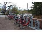 Bike share station right across the street