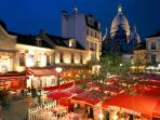the district : la Place du Tertre at 5 minutes