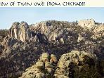 View of Twin Owls from Chickadee