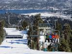 BIG BEAR SKIING & MOUNTAIN BIKE TRAM TO TRAILS NEARBY!!!