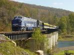 Many guests enjoy The Potomac Eagle Scenic Railroad weekend May-Sept & daily in Oct
