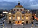 Palacio de Bellas Artes three blocks away