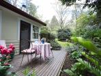 Fern suite outdoor sitting area