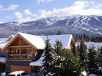 View of Blackcomb, looking directly across from our front balcony.