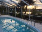 Sunrise over Packard Island