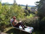 Panorama-Blick Bay. Wald v. d. Terrasse