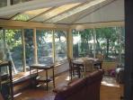 The veranda on the garden